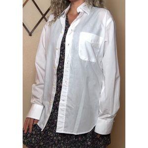 Vintage dior men's white button down shirt
